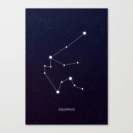 Aquarius zodiac sign Canvas Print