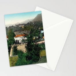 north italian landscape Stationery Cards