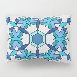 Moth's Crystal Snowflake - Light Blue Version Pillow Sham