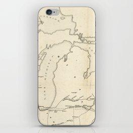 Railroad & The Northwestern States in 1850 iPhone Skin
