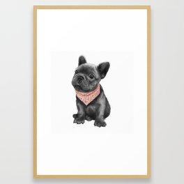parlez-vous frenchie? Framed Art Print