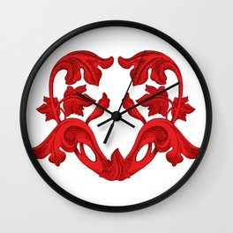 heart red Wall Clock