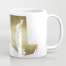 maryland gold foil state map Coffee Mug