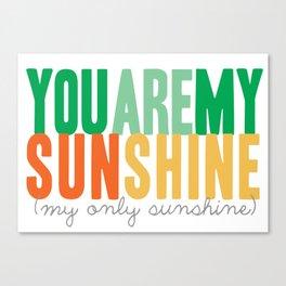 {sunshine-green} Canvas Print