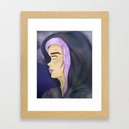 Galaxy Gal Framed Art Print
