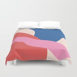 Big Shapes / Chewing Gum Duvet Cover