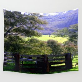 Cattle Yard Wall Tapestry