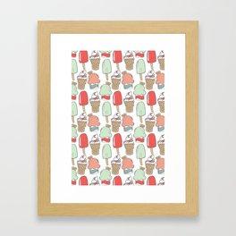 Ice Cream Cart Framed Art Print