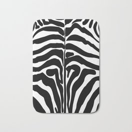 Zebra trendy design artwork animal exotic pattern Bath Mat
