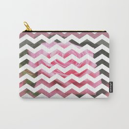 Pink Roses in Anzures 4 Chevron 3T Carry-All Pouch