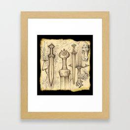 Iron-Sung Swords Stories Framed Art Print