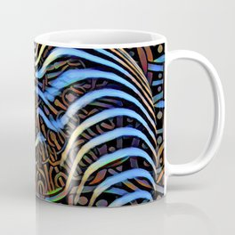 7852s-KMA_4972 Abstract Feminine Booty in Blue Stripes Coffee Mug