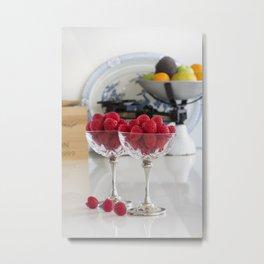 Raspberry desserts Metal Print