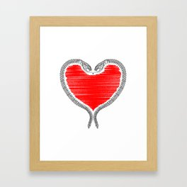 Duality - Love Framed Art Print