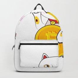 Bitcoin Neko Cat Cool Backpack