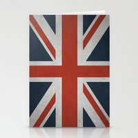 union jack Stationery Cards featuring Union Jack by Tom Schoffelen