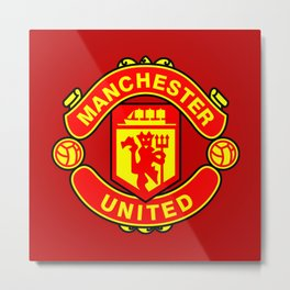 Manchester United Metal Print