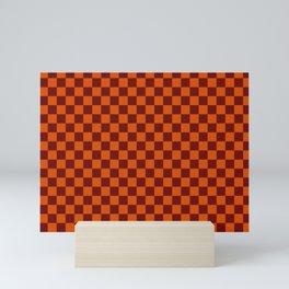 checkerboard 2(sinopia&rosewood) Mini Art Print