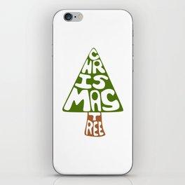 Textual Christmas Tree iPhone Skin