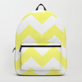 Butter Yellow Chevron Backpack