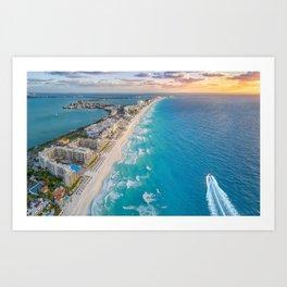 Cancun suns Art Print