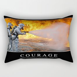 Courage: Inspirational Quote and Motivational Poster Rectangular Pillow
