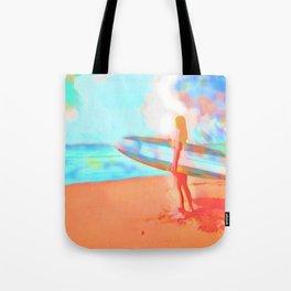 Surfer Girl Tote Bag