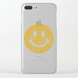 Yellow Smiley Face Emoticon Clear iPhone Case