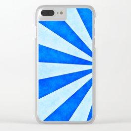 Blue sunburst Clear iPhone Case