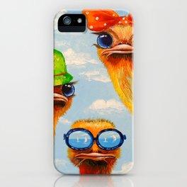 Ostriches friends iPhone Case