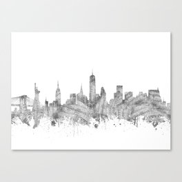 new york skyline music Canvas Print