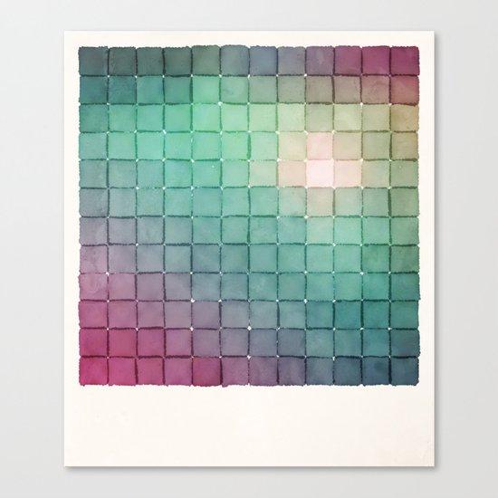 Polaroid Pixels VIII (Glow) Canvas Print