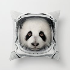 Panda Astro Bear Throw Pillow