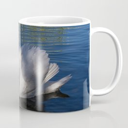 White Swan In The Sunlight Coffee Mug