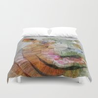 hippo Duvet Covers featuring abstract hippo by Ancello