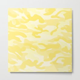 light Yellow Military Camouflage Pattern Metal Print