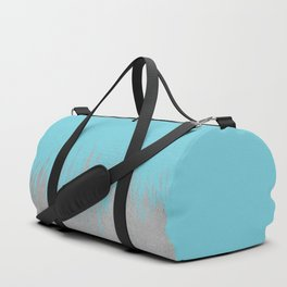 Concrete Fringe Aqua Duffle Bag