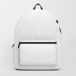 Laced Gray Ribbon on White Backpack