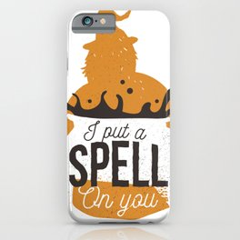 Witch saying I love you a spell iPhone Case