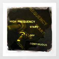 high frequency Art Print