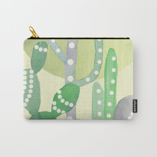 BOHO CACTUS IN MINT Carry-All Pouch