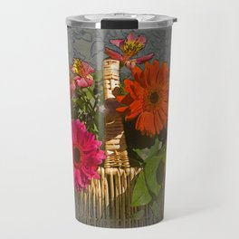 Flower Basket Still Life Travel Mug