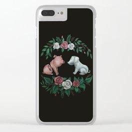 Fuck Speciesism Clear iPhone Case