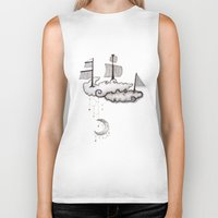 ship Biker Tanks featuring SHIP by Jumanaah Hiasat