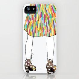 a girl in a dress iPhone Case