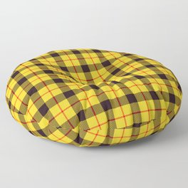 Yellow Plaid Tartan Floor Pillow