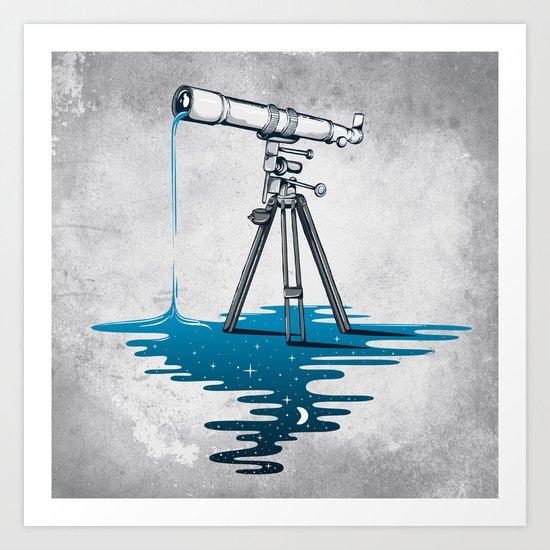 Liquid Universe Art Print