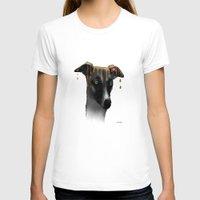 greyhound T-shirts featuring Greyhound BW by Marlene Watson
