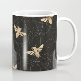 Busy Bees (Black) Coffee Mug