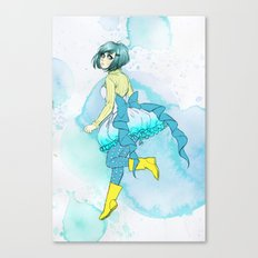 Hoop skirts and Rain boots. Canvas Print
